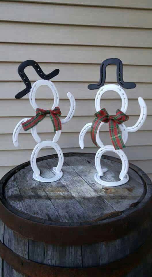 Horseshoe snowmen