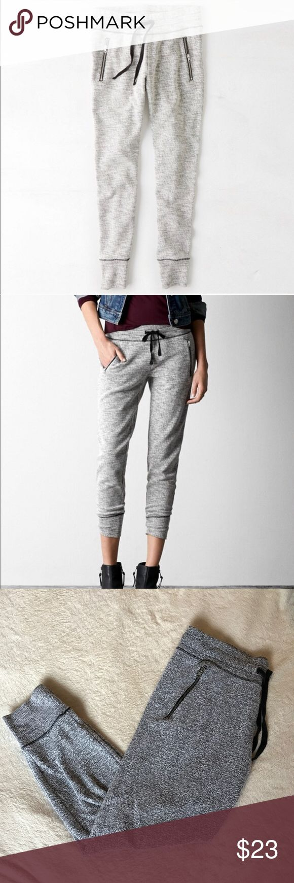Grey joggers with zipper pockets - Size Medium - Grey Joggers with zipper pockets  - Like New American Eagle Outfitters Pants Track Pants & Joggers