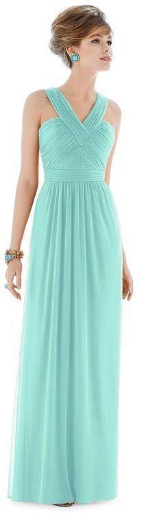 Alfred Sung - D678 Bridesmaid Dress in COASTAL - perfect for a beach wedding