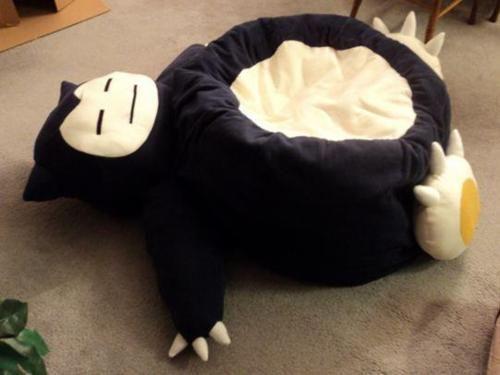 Geek Crafts; must make into a dog bed!: Pokemon, Stuff, Snorlax Beanbag, Beans, Bean Bag Chairs, Bean Bags