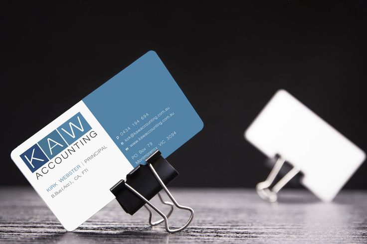 KAW Accounting business card