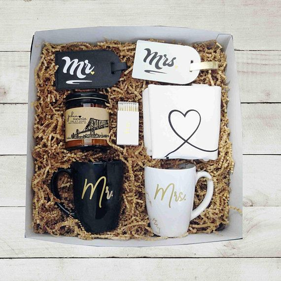 Mr Mrs Wedding Gift Box Unique Wedding Gift Engagement Gift for Couple Gift Box for Couple Holiday Gift for Bride and Groom Gift