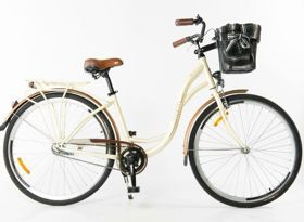 """Rower Storm 28"""" Barcelone 3-biegowy kremowy. Rower Storm Barcelone 3 Biegi 28 to duży stylowy rower damski dla Pań oczekujących wygody i niezawodności. #rowermiejski #rowerdamski"""