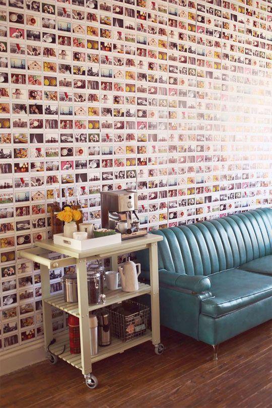 DIY Instax Wallpaper  A Beautiful Mess - http://centophobe.com/diy-instax-wallpaper-a-beautiful-mess/ -