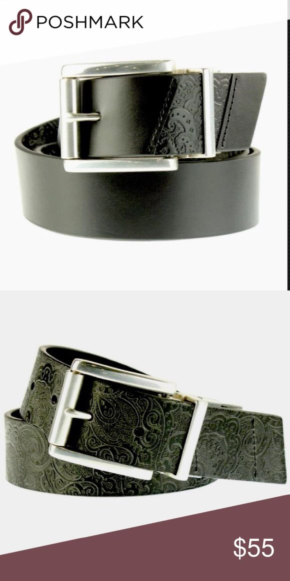 Robert Graham Potter Leather Reversible Belt NWT Robert Graham Potter Black Leather Reversible Belt NWT Potter 42&30  •Manufacturer:Robert Graham •Size:42 measurement •Size Origin:US •Manufacturer Color:Black •Retail:$98.00 •Style Type:Casual Belt •Collection:Robert Graham •Closure:Buckle •Length:Approx 50 Inches for 42  •Width:Inches •Material:Genuine Leather •Fabric Type:Leather •Specialty:Textured Rich Black Leather, 'Robert Graham' engraved on…