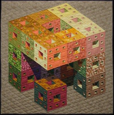 Menger's Cube quilt, 2004, by Arnout Cosman (The Netherlands)