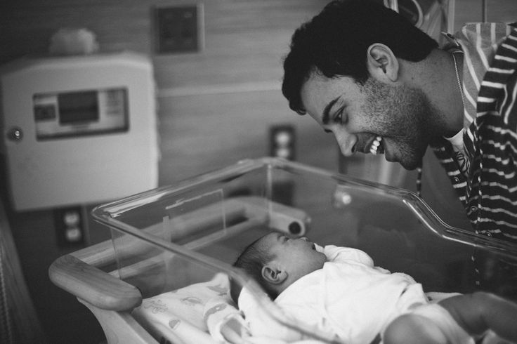 love this shot of dad and baby. in hospital newborn photos