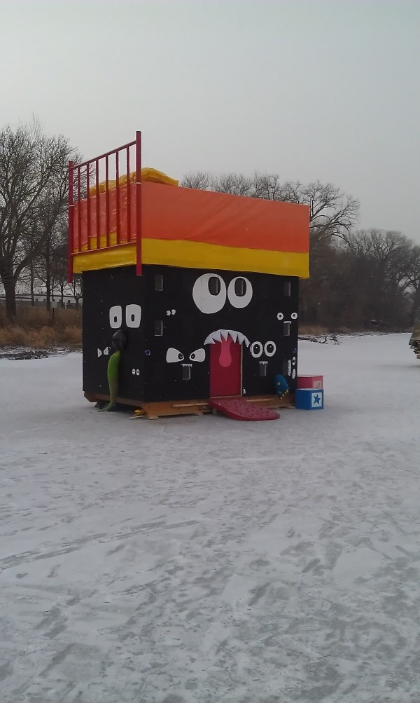 Ok, this is an art shanty on ice. That's arty