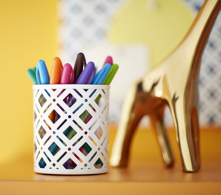 The Container Storeu0027s Charleston Pencil Cup Is The Perfect Base For Your  Colorful Markers, Pens, Pencils And Crayons!