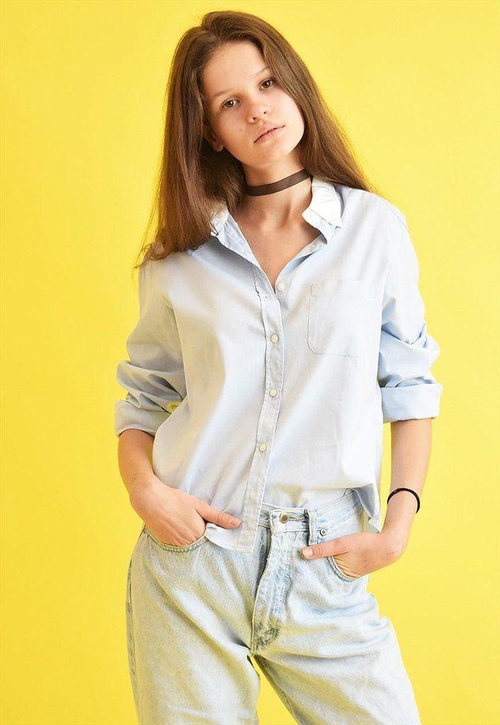 90's retro RAPLH LAUREN pastel classic cut shirt top - Vintaholic