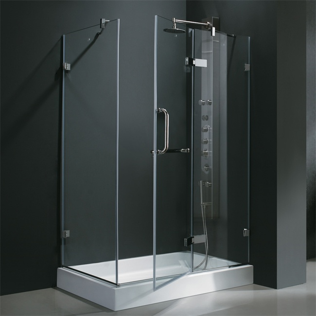 Visit The Home Depot To Buy Vigo 36 In. Frameless Pivot Shower Enclosure In  Clear/Brushed Nickel