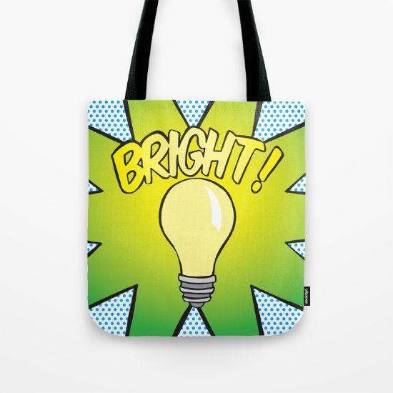 Tote Bag - Bright! Lightbulb #popart #totebag #society6