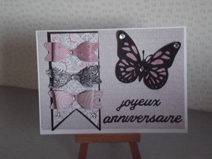 """Carte d'anniversaire""""Noeud et papillon"""" invitation,départ en retraite invitation,bon rétablissement,remerciement à personnaliser selon votre envie : Cartes par coco-et-ses-creations"""