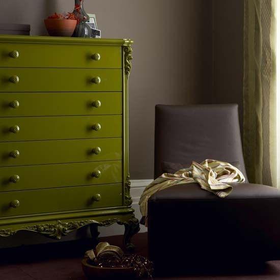 Brown und grüne Wohnzimmer Wohnideen Living Ideas Interiors ...
