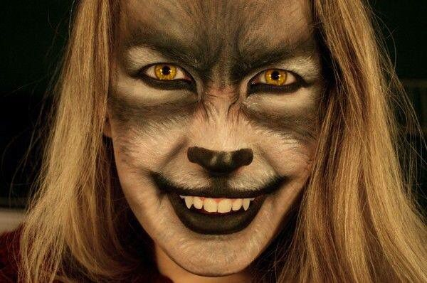 FINALLY found an awesome Halloween wolf makeup design                                                                                                                                                                                  More