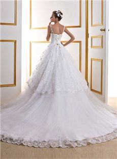 Ball Gown Classic & Timeless All Sizes Lace-up Bateau Chapel Natural Sleeveless Wedding Dress