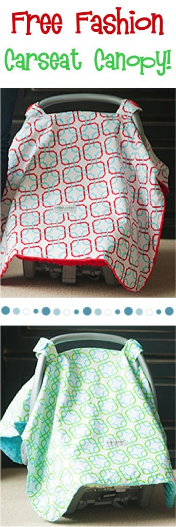 FREE Fashion Carseat Canopy! {just pay s/h} ~ these make such great Baby Shower gifts, too!