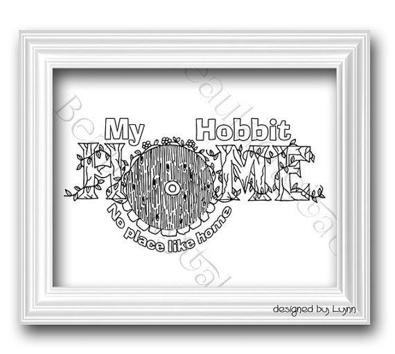 Hobbit Coloring Page for Adults & Kids  by Beauladigitals on Etsy