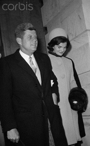 JFK & Jacqueline Kennedy on Inauguration Day, January 20, 1961.
