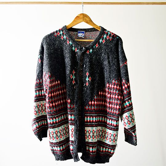 Made By Mee + Co | Charcoal Christmas Cardigan