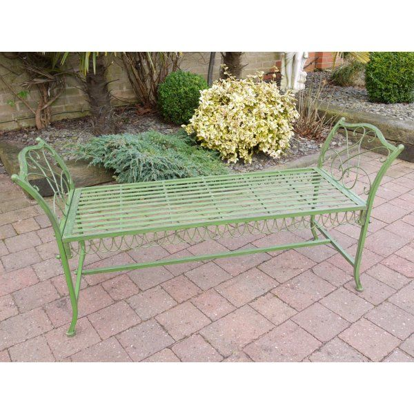 Buy Green Garden Stool Bench | Swanky Interiors