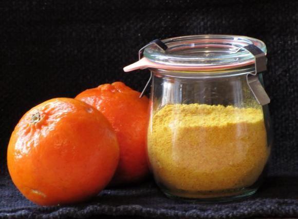 buccia mandarino disidratata