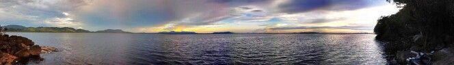 waiting for sunset at Danau Sentarum National Park, Kalimantan, Indonesia