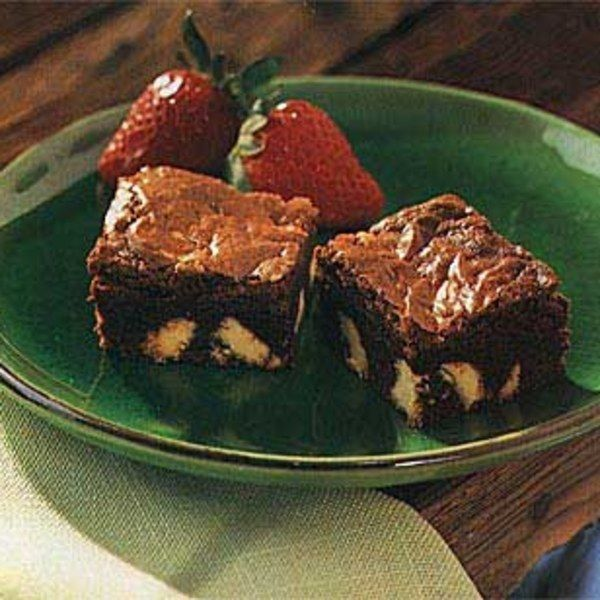 Dark Chocolate Brownies with White Chocolate Chunks
