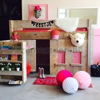 halfhoogslaper Floor met speelhut en bureau op wielen