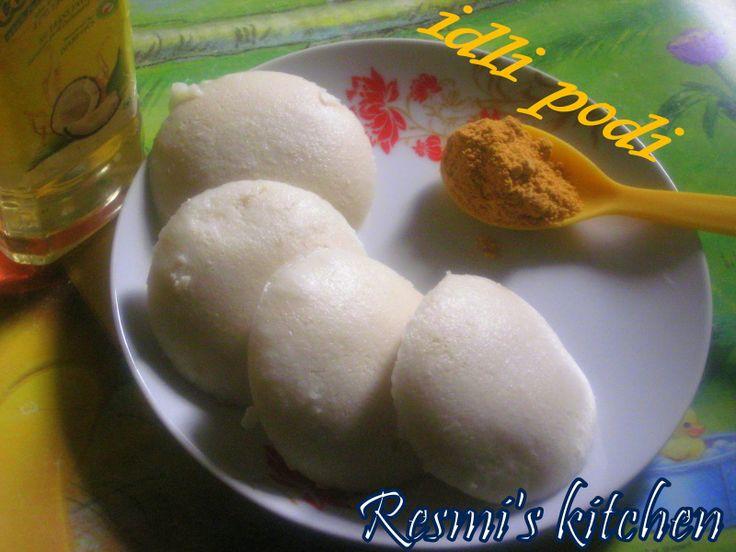 Resmi's kitchen: IDLI PODI / MULAGAI PODI