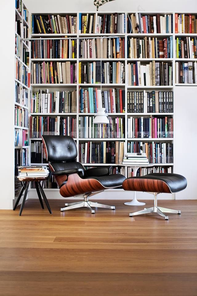 Artek Lamp + Vitra Eames Lounge Chair. Perfect combination for library.