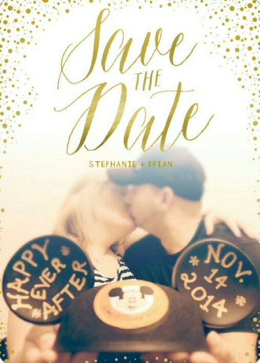Wedding in Walt Disney World....our Save The Date!