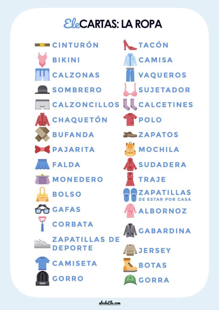 Ele Cartas: La ropa [Dobble – spot it]
