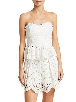 72af3566df5ac Zimmermann Bowie Strapless Scalloped Eyelet Bodice | FAV All Things ...