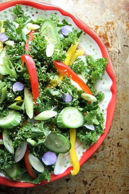 ... & healthy! Asian Kale Salad via Heather Christo #clean #resolutions