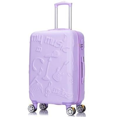 ea46c9bf1 Travel bag universal wheels trolley luggage female small fresh personalized  luggage 20 male 24,music
