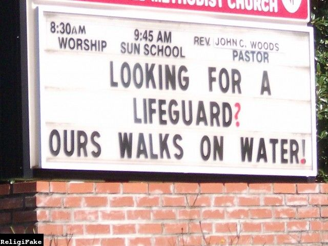 Funny Church Signs  {100 Days of Praise}