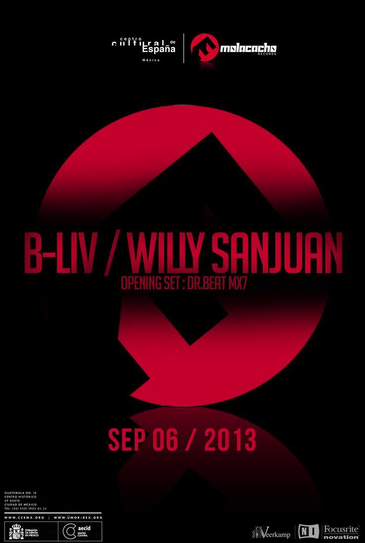 Sep 6 with Superstar Dj & Producer Willy Sanjuan (Spain) CCE- México