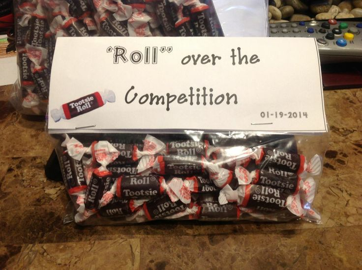 Drill+Team+Gifts+Homemade | Tootsie Roll gift