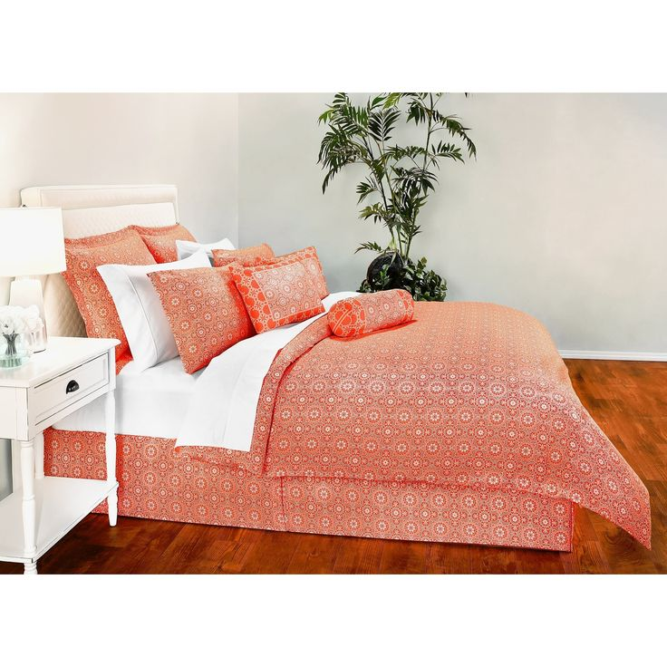 Decorative Voyagers Byzantine Collection Coral Duvet Cover Set
