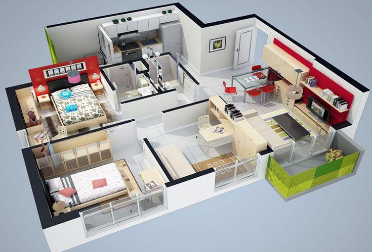 Planos de casas en 3d buscar con google planos pinterest b squeda - Planos de casa en 3d ...