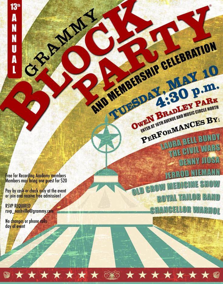block party flyers