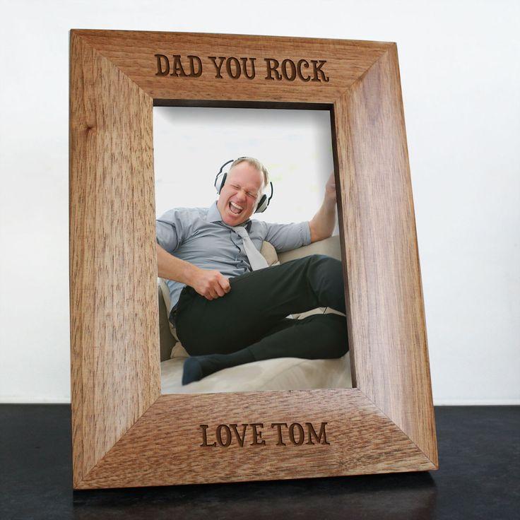 Dad You Rock Engraved Photo Frame