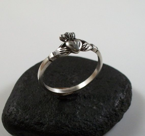 Sterling silver Claddagh ring affordable by BeachsideJewels