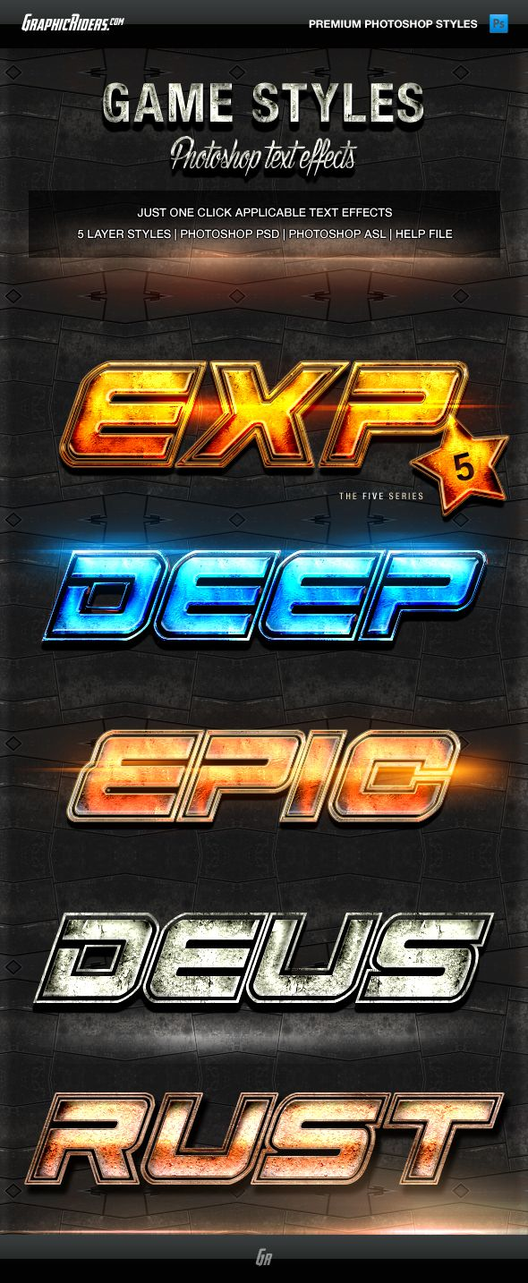 Various Text Effects vol.4 - Action Game Styles #design Download: http://graphicriver.net/item/various-text-effects-vol4-action-game-styles/13371915?ref=ksioks