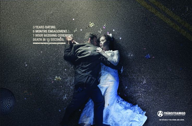 """""""No future if you drink and drive"""". For ONG Trânsito Amigo by Giacometti.  #Drinking #Driving #Wedding #Love #future #goodad"""