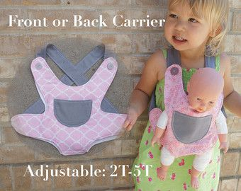 Unique Kids Gift Baby Doll Ergo Carrier by LoulabelleCreations