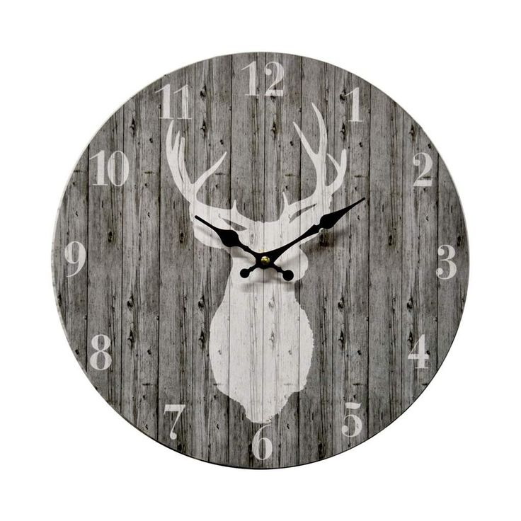 clock deer grey
