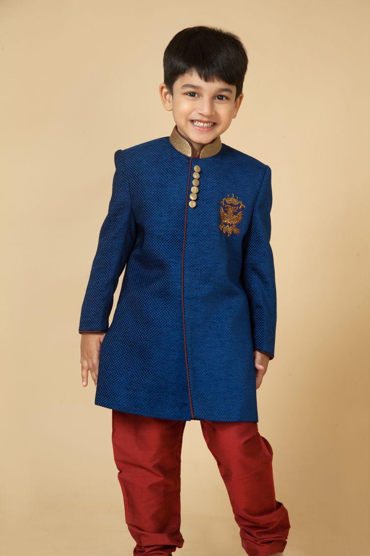 13 Best Kids Sherwani Images On Pinterest Kids Boys