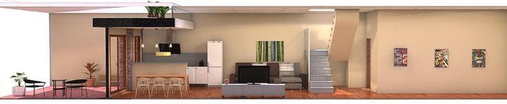 Ideas de #Decoracion de #Comedor, #Cocina, #Salon, estilo #Contemporaneo diseñado por Estudi de Arquitectura & Eficiencia Energètica GPA S.L Arquitecto Técnico con #Dibujos #Maquetas  #CajonDeIdeas http://planreforma.com/es/